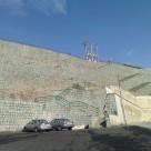 دیوار حائل ژئوگریدی دانشگاه علوم و تحقیقات